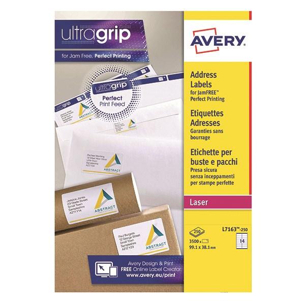 Avery L7163 250 Self Adhesive Address Labels 991 X 381mm 14