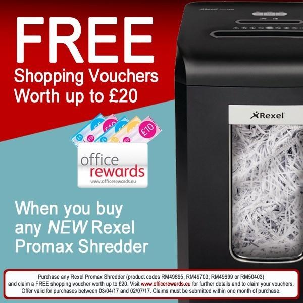 Rexel Promax RES1123 Executive Deskside Strip Cut Shredder 1758025A